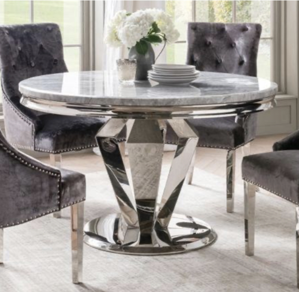 Windsor Marble 1 3m Round Dining Table, Round Marble Table Dining Set